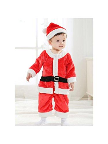 SYMTOP Baby Kostüm Santa Claus Kinderkostüm Weihnachtsmann Verkleidung Outfit Größe 110 (Santa Für Babys Claus Kostüm)