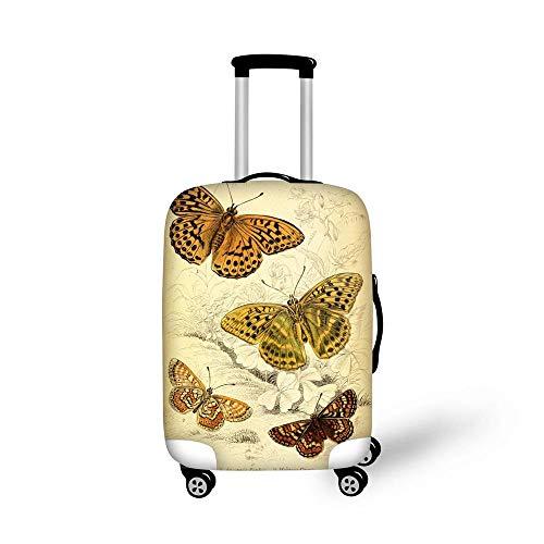 BBOOXX 3D Kofferabdeckung,Elastisch Wagen Schmetterling Drucken Gepäckabdeckungen Schutz Passt zum Junge Mädchen Tourismus Geschäftsreise Tier H-L(26-28in) - Deckenfluter Ist Muster