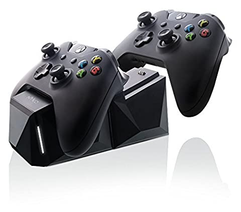 Extendable double charging station for Xbox One controller, black, with USB power supply or Power socket (US Version)