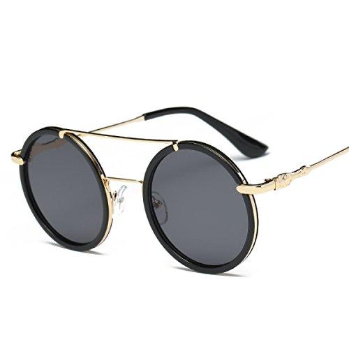 Fashion Big Box Runde Sonnenbrille Double Beams Damen Herren Retro Sonnenbrillen Sonnenbrillen,A1