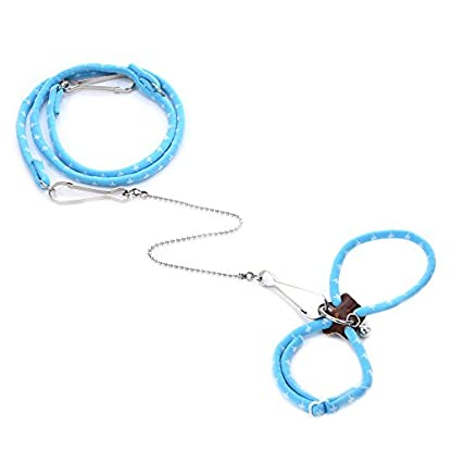 Adjustable Harness Vest and Leash Set Leads for Pet Dwarf Hamster Gerbil Rat Mouse Ferret Chinchillas Squirrel Small… 2