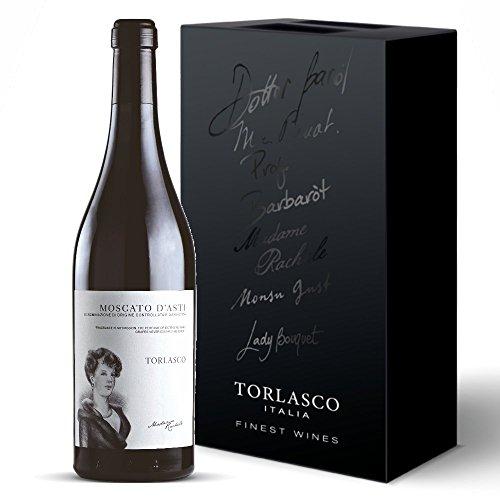 Torlasco confezione regalo bottiglie moscato d'asti docg vino dolce - confezione da 2 x 750 ml