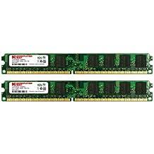 Komputerbay 4GB (2X 2GB) DDR2 800MHz PC2-6300 PC2-6400 (240 PIN) DIMM Memoria Desktop con semiconduttori Samsung