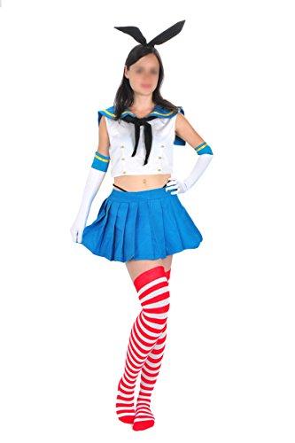 CoolChange Kantai Collection Cosplay Uniform von Shimakaze, Größe: (28 Halloween Kostüme Japanische)