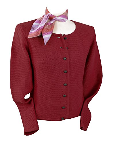 Trachten-Strickjacke Damen - Trachtenjacke/Dirndljacke/ Rot - Top-Qualität