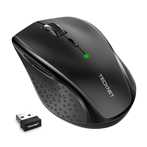 TeckNet® M002 Nano Wireless Mouse,6 Buttons,18 Month Battery Life,2000 DPI 3 Adjustment Levels-Grey