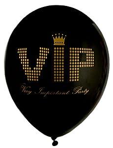 NEU Ballon VIP, schwarz, Ø ca. 23cm, 8 Stück