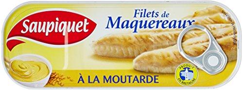 Saupiquet de Maquereaux À la Moutarde la Boîte 169g - Lot de 5