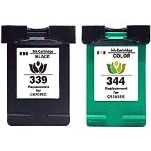arink 2x Remanufacturados Repuestos para HP 339& HP 344Cartuchos de Tinta Compatibles para HP DeskJe
