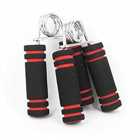 Andux Zone 1 paire Hand Grip,poignée de musculation main,Muscle Main avec Poignées en Mousse WLQ-01 (noir &