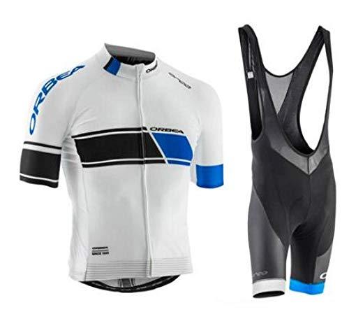 Männer Sommer schnell trocken Bike Team MTB Radsportbekleidung Fahrrad Kleidung Shirts Fahrrad Wear Trikot Trägerhose Herren Radsportbekleidung Anzug@Jersey BIB Short_L