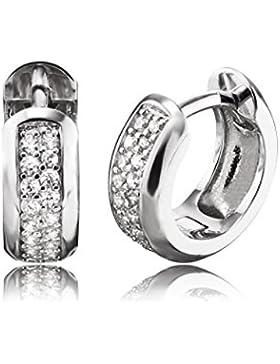 Engelsrufer Damen-Creolen Ohrringe 925 Silber rhodiniert Zirkonia weiß-ERE-ANNA-ZI-CR