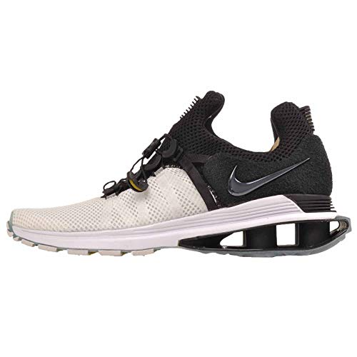 Nike Men's Shox Gravity White/Black/White Nylon Running Shoes 8 (D) M US
