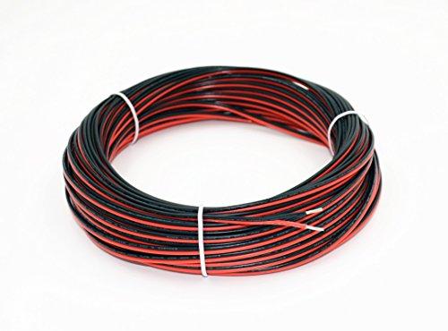 18 Gauge Elektrischer Draht 25 m Anschluss Rot Schwarz Kupfer Stranded Auto 2 Draht Niederspannung 12 V DC Draht für Einfarbige LED Streifen Verlängerungskabel Kabelspule 3528 5050