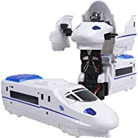 Toyswala Convertible 2 in 1 Robot Train/Transformer Bullet Train Toy for Kids - Multi Colour