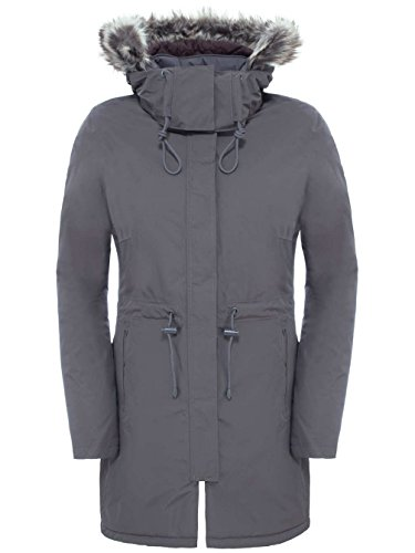 6a13c3196f THE NORTH FACE Zaneck Parka Femme, Gris, FR : S (Taille Fabricant :