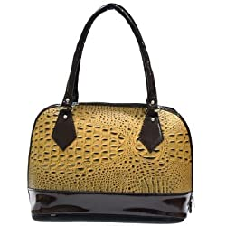 INKDICE Wild Ostrich Cream Pale Handbag for Women