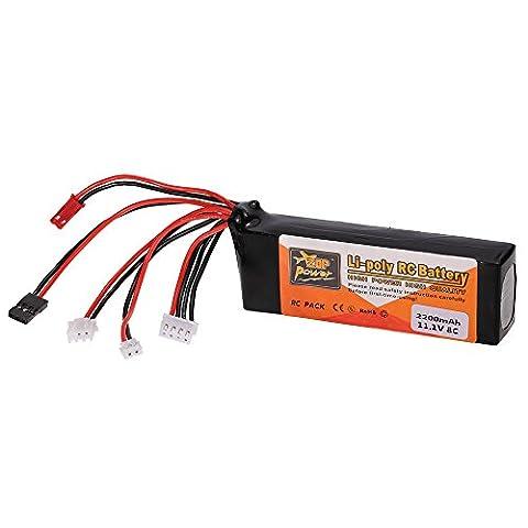 GoolRC Transmetteur de Haute Qualité LiPo Batterie 11.1V 2200mAh pour Futaba JR Walkera Devo7 / 10 WFLY Transmetteur
