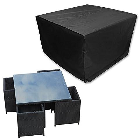 Elifestore Waterproof Outdoor Rain Cover For Rattan Cube Garden
