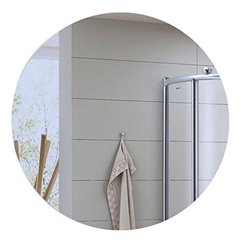 GUOWEI Spiegel Runden Hochauflösend An Der Wand Montiert Rahmenlos Badezimmer Bilden Eitelkeit 4 Größen (Farbe : Silber, größe : 60x60cm) -