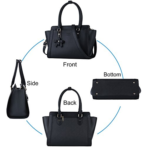 Borse Donna,COOFIT Borse Eleganti in PU Pelle Brose Tote Bag Nero Nero