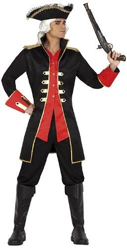 Turner Will Kostüm - ATOSA 22914 - Pirat Kostüm, Größe XL, schwarz/rot