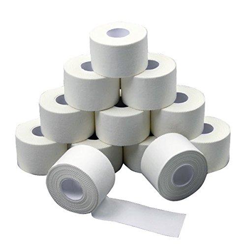 12-x-Sport-tape-38-cm-x-10-m-colore-bianco