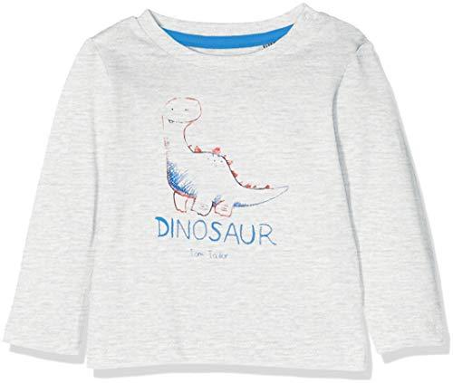 TOM TAILOR Kids TOM TAILOR Kids Baby-Jungen T-Shirt 1/1, (Lunar Rock Melange Beige 8439), 62