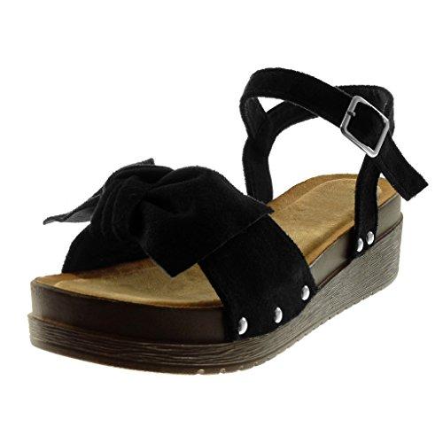 Beige 41 EU Angkorly Scarpe Moda Sandali Mules con Cinturino Alla Caviglia 4i4
