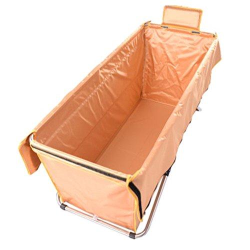 Zusammenklappbar Badewanne Tragbar Non-Inflatable Dicker vergrößertes Badewanne Wärmedämmung Bidet Becken Erwachsene Liegerad Baden Baby \'s Schwimmbad 130cm B