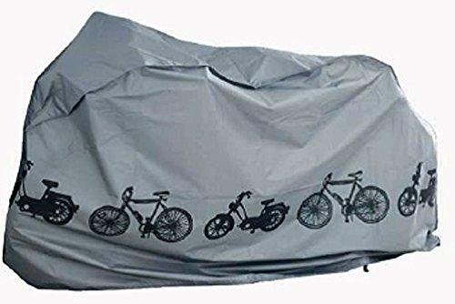 Fahrradabdeckung Wasserdicht und dehnbar,all-around24 Fahrradgarage Gewebeplane Schutzhülle-Wasserdichte Schutzhülle Fahrradschutzhülle für Fahrräder (1 Stück)