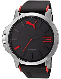 Puma Motorsport Ultrasize Unisex Quartz Watch with Black Dial Analogue Display and Black Plastic or PU Strap PU102941003