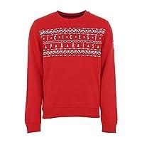 Sweat PSG Ici C'est Paris Christmas - Licence Officielle - Rouge. Taille EU - XXL-70% Coton / 30% Polyester
