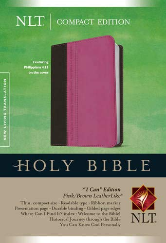 NLT Compact Edition Bible Tutone Pink/Brown