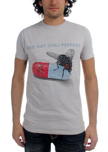 Red Hot Chili Peppers Herren Fly Drucke T-Shirt in Weiß White