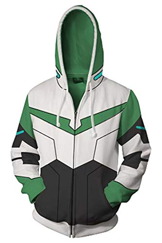 Voltron: Legendary Defender of The Universe Katie Pidge Holt Mantel Zip-up Hoodie mit Kapuze Grün ()