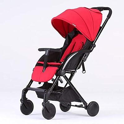 MRXUE Twin bebé Cochecito Alto Paisaje Sentado/Respaldo Ligero Plegable Desmontable Ultra Ligero Shock BB Trolley 0-3 años de Edad