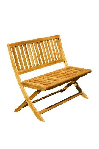 Brema 052143 Klappbank Nancy 2-Sitzer ohne Armlehnen aus Akazienholz