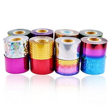 MZP 1 Autocollant d'art de clou Feuille de bandes de dénudage Autre décorations Abstrait Maquillage cosmétique Nail Art Design , 14#