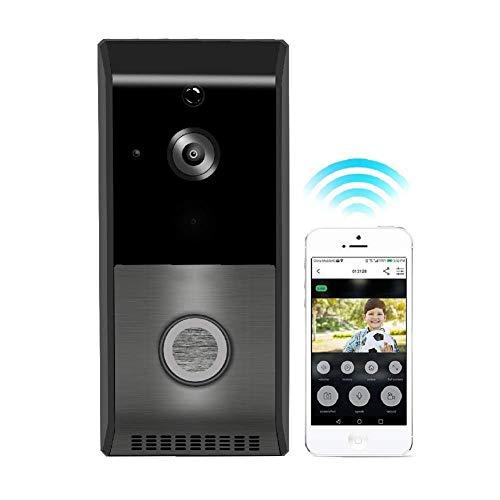 XHZNDZ Video-Türklingel Wireless Smart 720P HD Überwachungskamera-Türklingel-Kartenunterstützung 2-Wege-Talk-Weitwinkel-PIR-Bewegungserkennung Nachtsicht und App-Steuerung für iOS und Android