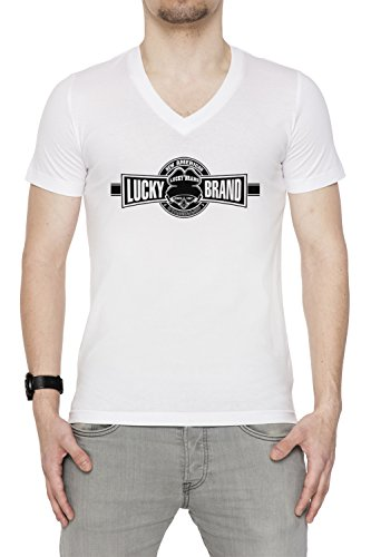 lucky-brand-uomo-v-collo-t-shirt-bianco-cotone-maniche-corte-white-mens-v-neck-t-shirt