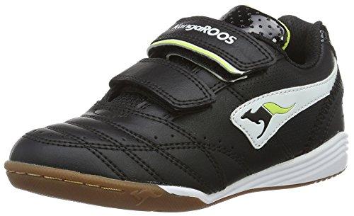 Kangaroos Power Court, Scarpe da ginnastica Unisex - bambino, Nero (Noir (Black/White/Lime 508)), 32