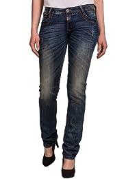 """Timezone Damen Jeans 16-5373 TamikaTZ GMT """"3455 steel wash"""" Straight Fit (Gerades Bein) Normaler Bund"""