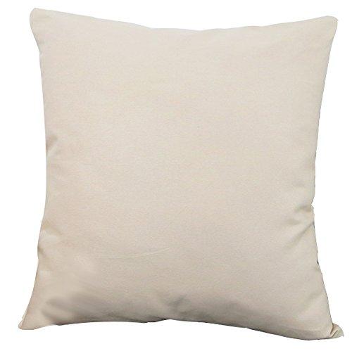 Plusieurs solide Couvre-lit Taie d'oreiller Housse de coussin Livebycare Lin Coton Pilllowcase d'oreiller Sham Fermeture Éclair pour chambre à coucher Canapé Chaise Siège arrière, Coton, Off-white/Beige, 60*60cm WITH INSERT