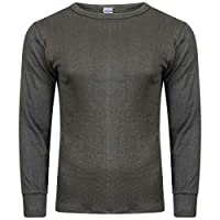 Socks Uwear® Mens Winter Thermal Long Sleeve T Shirt (Pack of 3) - Charcoal - X-Large