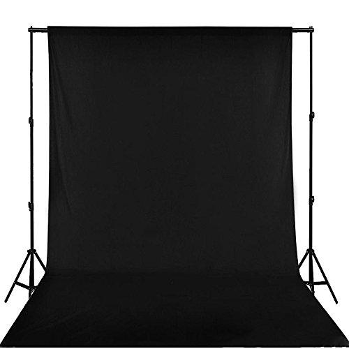 PHOTO MASTER Toile de Fond de 6x9 Pieds/1,8x2,8 Mètres Pliable de 100% Coton Mousseline Photographie, Vidéo Télévision - Noir