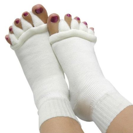 WINGONEER Zehenspreizer Wellness Socken Die Lösung gegen Verkrampfte Füße und verformte Fusszehen! Profi Pediküre set (Sterne-zehe Socke)