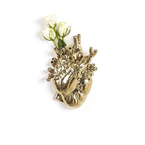 Seletti Love In Bloom Vase Herz Gold