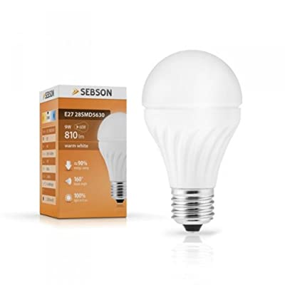 Sebson E27 9w Led Lampe 60w-ersatz Warm-wei - 28 X 5630 Smd Led - 160 Abstrahlwinkel - E27 Sockel - 230v Ac von sebson