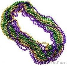 Novelties Direct Metallic Mardi Gras Party Beads by Novelties Direct
